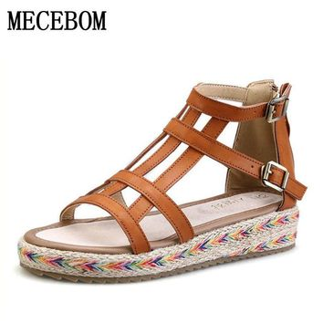 81eebe2e5 2018 New Women Gladiator Sandals Bohemia Fashion Girls Platform