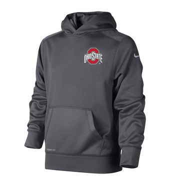 Nike Ohio State Buckeyes KO Therma-FIT Performance Fleece Hoodie - Boys 8-20