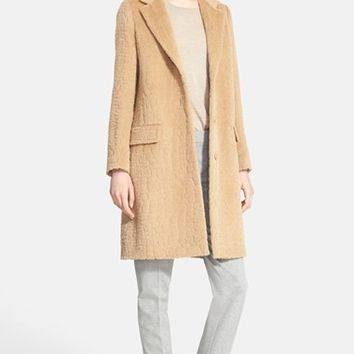 Women's Max Mara 'Agami' Crocodile Pattern Alpaca & Wool Coat,