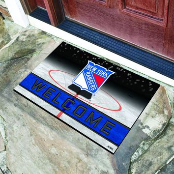 "NHL - New York Rangers 18""x30"" Crumb RubberDoor Mat"