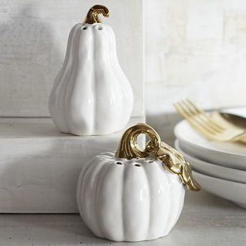 Gilded Pumpkin Salt & Pepper Shakers
