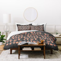 Raven Jumpo Drinking Mugs Duvet Cover