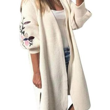 Whittier Embroidered Cardigan Sweater