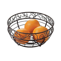 Fruit Bowl Basket Kitchen Home Design Table Holder Wire Store Bronze Decor New
