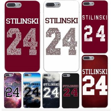Teen Wolf STILINSKI 24 Words funny Phone Cover Case for iphone5 6 7 8 plus X