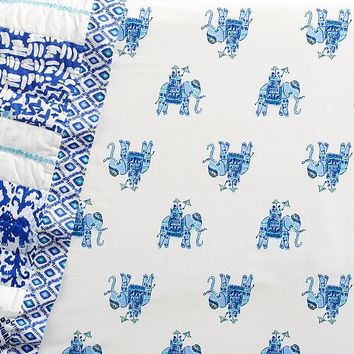Lilly Pulitzer Elephant Bazaar Crib Fitted Sheet