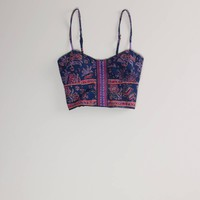 AE Festival Crop Corset | American Eagle Outfitters