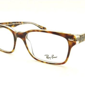 Gotopfashion Ray Ban RB 5286 5082 51 Havana Crystal Eyeglass New Authentic Frames