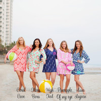 Monogrammed Swimsuit Coverup, Summer Tunic, Monogrammed Tunic, Monogram Coverup, Swimsuit Coverup, Bridesmaid Gifts, Monogrammed Gifts