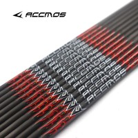 12pcs New 31 inch ID 6.2mm Spine 300 340 400 500 600 700 800Pure Carbon Arrow Shafts DIY Arrow Archery for Bow Hunting