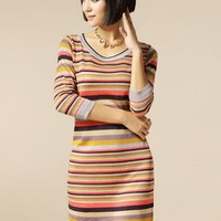 Women Rainbow Stripe Blends Empire Scoop Short Skirt One Size@IM7067 $32.30 only in eFexcity.com.
