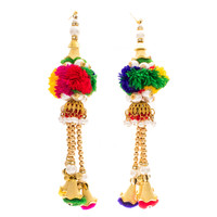 Handmade Rainbow Indian Earrings