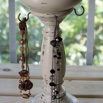 Antique White Jewelry Stand