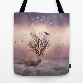 In the Stillness Tote Bag by Soaring Anchor Designs | Society6