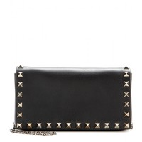 valentino - rockstud noir leather clutch