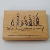 BIRTHDAY  RUBBER Stamp / Heather S-47-HK