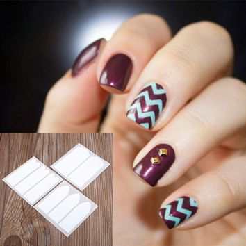 18 Sheets All Style French Nail Sticker Manicure Tips Guide DIY Nail Art Decoration Tool