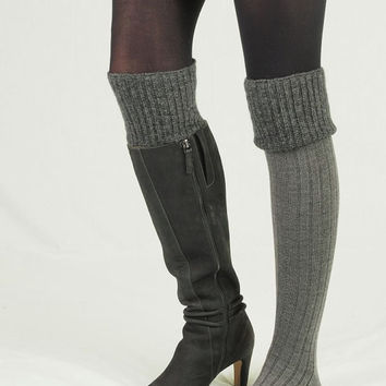 Boot Socks-Buy 2 get 1 FREE-Boot Cuffs-Above the Knee Boot Socks-Leg Warmers-Wool- Black and White