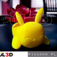 Pokemon Planter Pikachu, 3d Printed, Succulent Pot