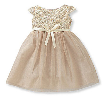 Jayne Copeland 2T-6X Soutache-Bodice Sheer-Overlay-Skirted Dress | Dillards.com