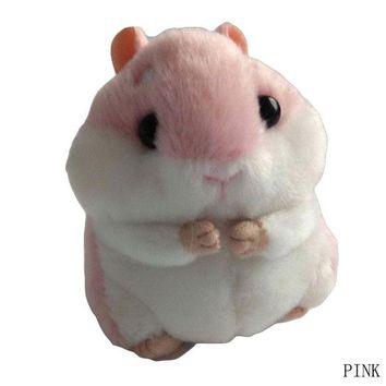 ac spbest Cute Soft Plush Cartoon Animal Keychain Small Hamster Toy Doll Keyring Stuffed Mouse Pendant Key Chain Women Bag Charms Trinket