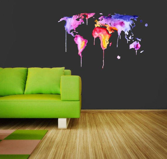 full color wall decal vinyl sticker from creativewalldecals on. Black Bedroom Furniture Sets. Home Design Ideas