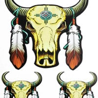 Buffalo Feathers Native Sticker