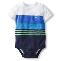 Slub Jersey Mixed Striped Bodysuit