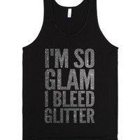 I'm So Glam (tank)-Unisex Black Tank