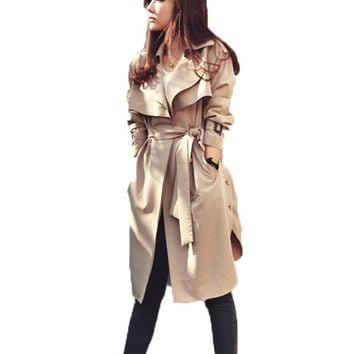 Trench Coat With Belt for Women