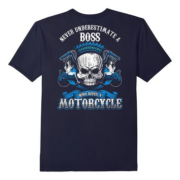 Boss Manager Biker Who Rides A Motorcycle Shirt Skull Babe