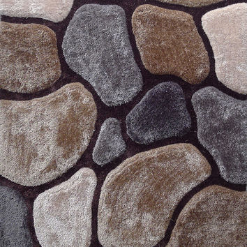 Earth Rock Design Hand Tufted Area Rug