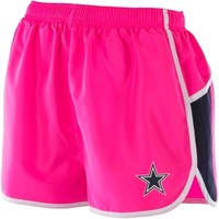 Dallas Cowboys Ladies Wowza Running Shorts - Pink