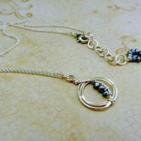 Handmade, Small, Fine Silver Plated and Pearl Pendant Necklace, Signature Design