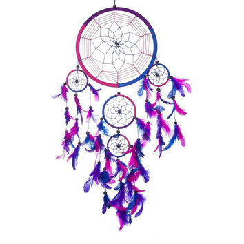Handmade DreamCatcher Big Dream Catcher Blue Dream Catcher Pink Dream Catcher Ring Dream Catcher Native American Heritage