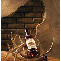 Whitetail Antler Wine Bottle Rack