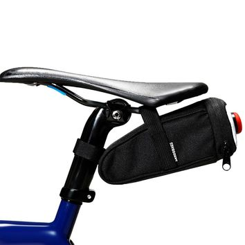 SAHOO MTB Road Bike Bicycle Saddle Bag Under Seat Pack Cycling Rear Seat Bags Waterproof Storage Pack With Trail Lamp