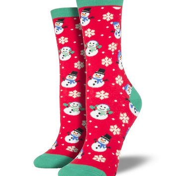 Socksmith Let it Snow Red Socks