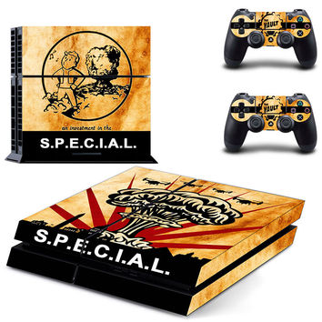 Fallout vault boy design skin for ps4 decal sticker console & controllers