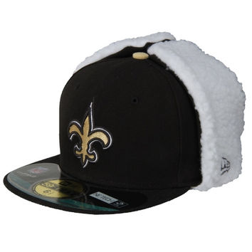 New Era New Orleans Saints Youth  On Field Dog Ear 59FIFTY Structured Fitted Hat - http://www.shareasale.com/m-pr.cfm?merchantID=7124&userID=1042934&productID=547697230 / New Orleans Saints