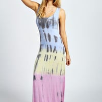 Laura Rainbow Tie Dye Maxi Dress