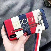 GUCCI New fashion letter print stripe couple protective case phone case