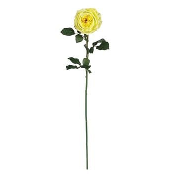 Silk Flowers -31 Inch Large Yellow Rose Stem -Set Of 12 Flower Artificial Plant
