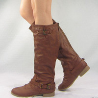 NEW Womens Riding Boots Knee High Fashion Slouch Hot Stylish Shoes