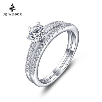 Natural Topaz 925 Sterling Silver Women Wedding Bridal Sets Ring with Natural Narural Topaz for Women