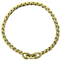 Hermes Torsade Gold Chain Link Necklace