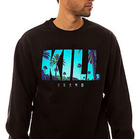 The Tropical Swag Logo Crewneck Sweatshirt in Black