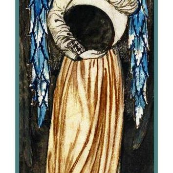William Morris Angel Waning Moon Counted Cross Stitch or Counted Needlepoint Pattern