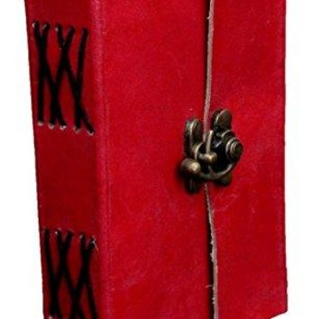 Handmade Goat Leather Journal Genuine Diary or Journal Blank Cream Color With Metal Lock