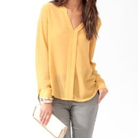 Oversized Y-Neck Top